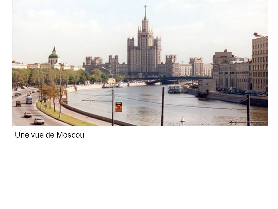 Une vue de Moscou