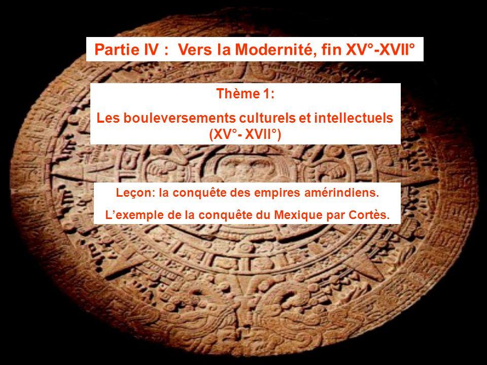 Partie IV : Vers la Modernité, fin XV°-XVII°