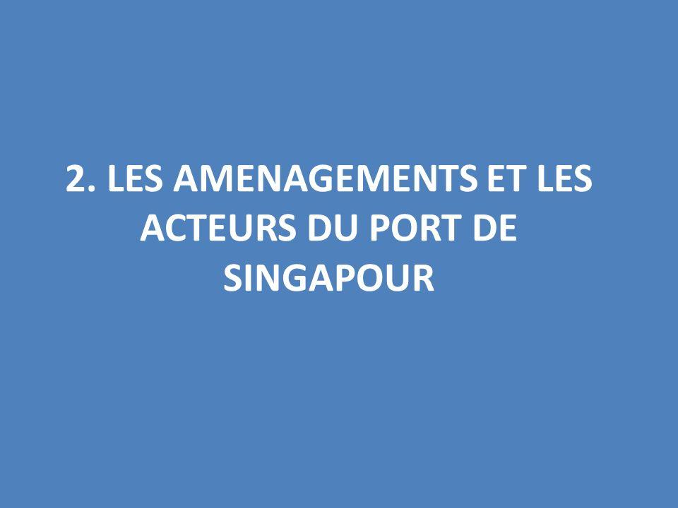 2. LES AMENAGEMENTS ET LES ACTEURS DU PORT DE SINGAPOUR