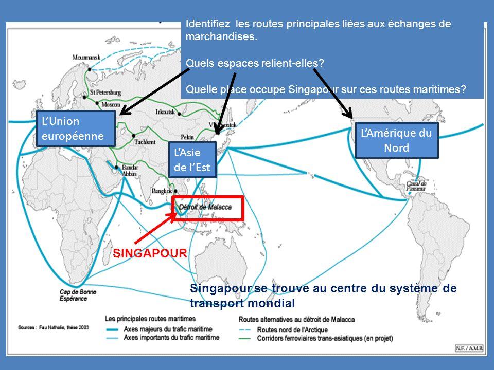 Singapour se trouve au centre du système de transport mondial