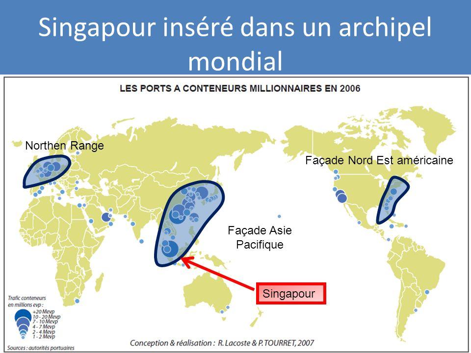 Singapour inséré dans un archipel mondial