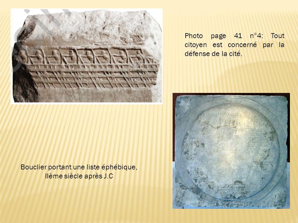 Bouclier portant une liste éphébique, IIème siècle après J.C