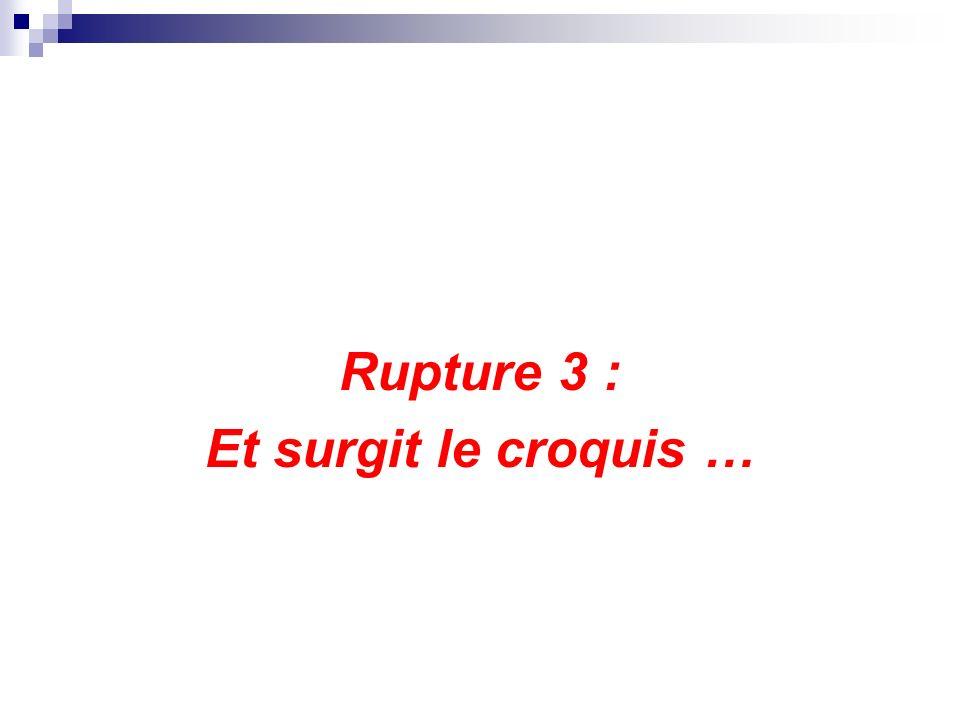 Rupture 3 : Et surgit le croquis …