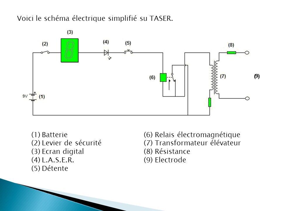 Voici le schéma électrique simplifié su TASER.