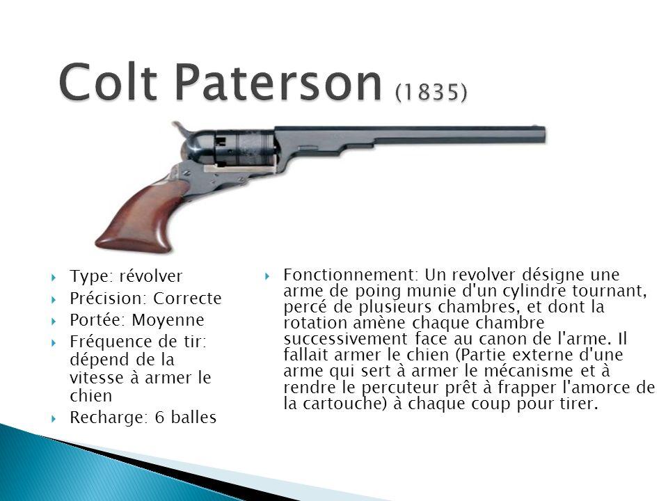 Colt Paterson (1835) Type: révolver Précision: Correcte
