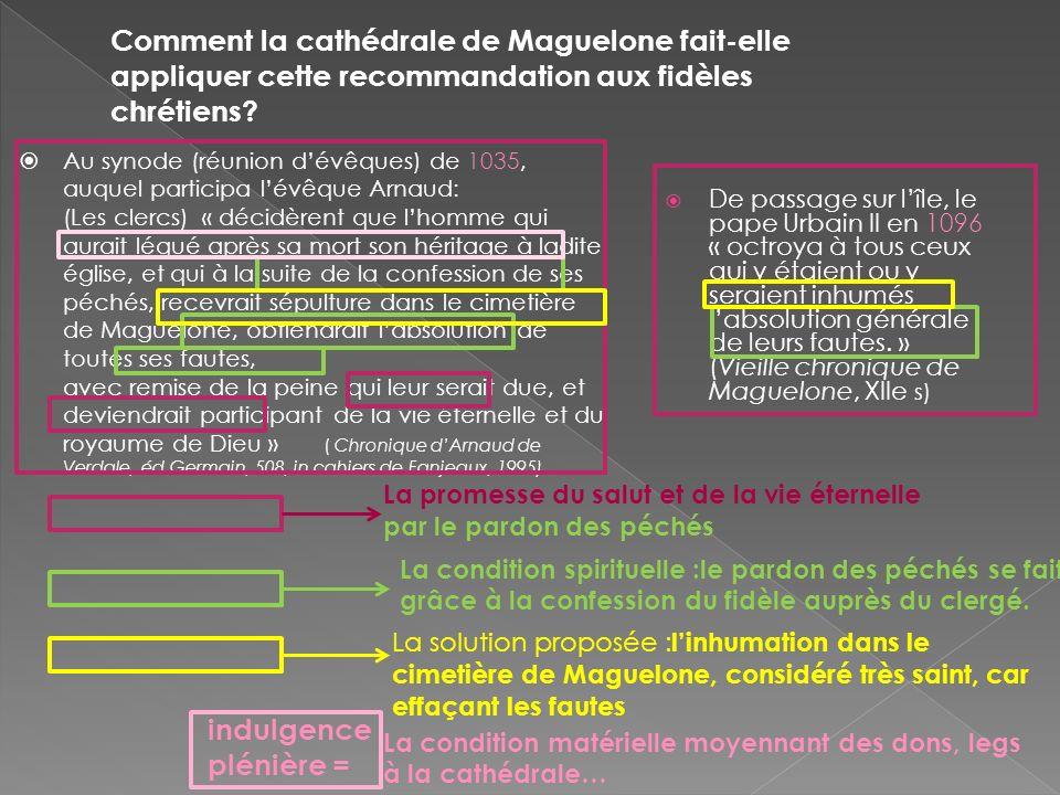 Comment la cathédrale de Maguelone fait-elle appliquer cette recommandation aux fidèles chrétiens