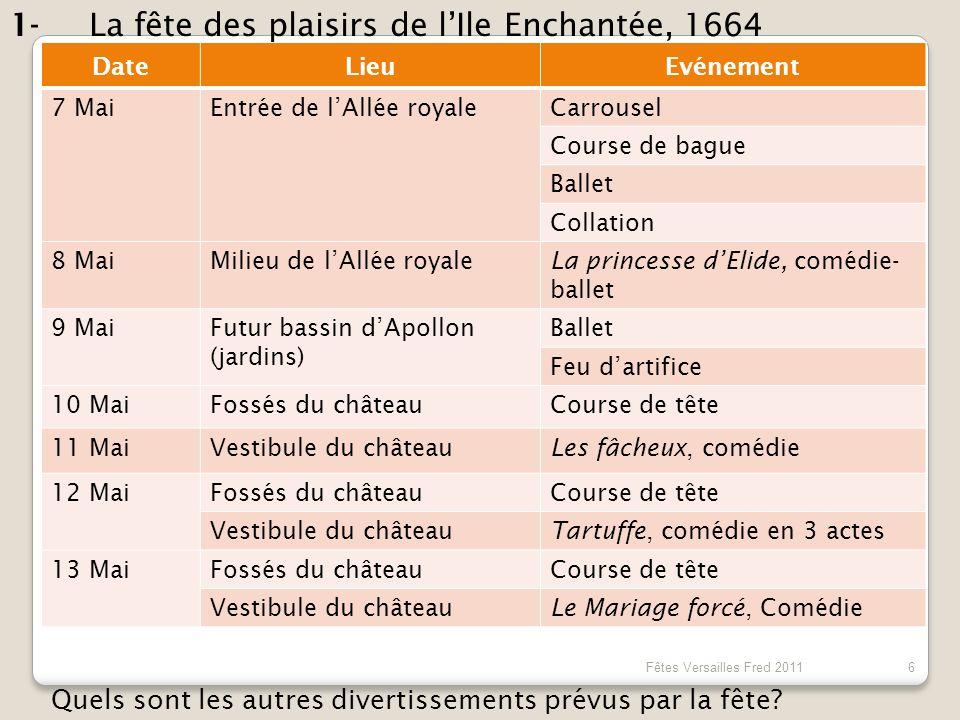 La fête des plaisirs de l'Ile Enchantée, 1664