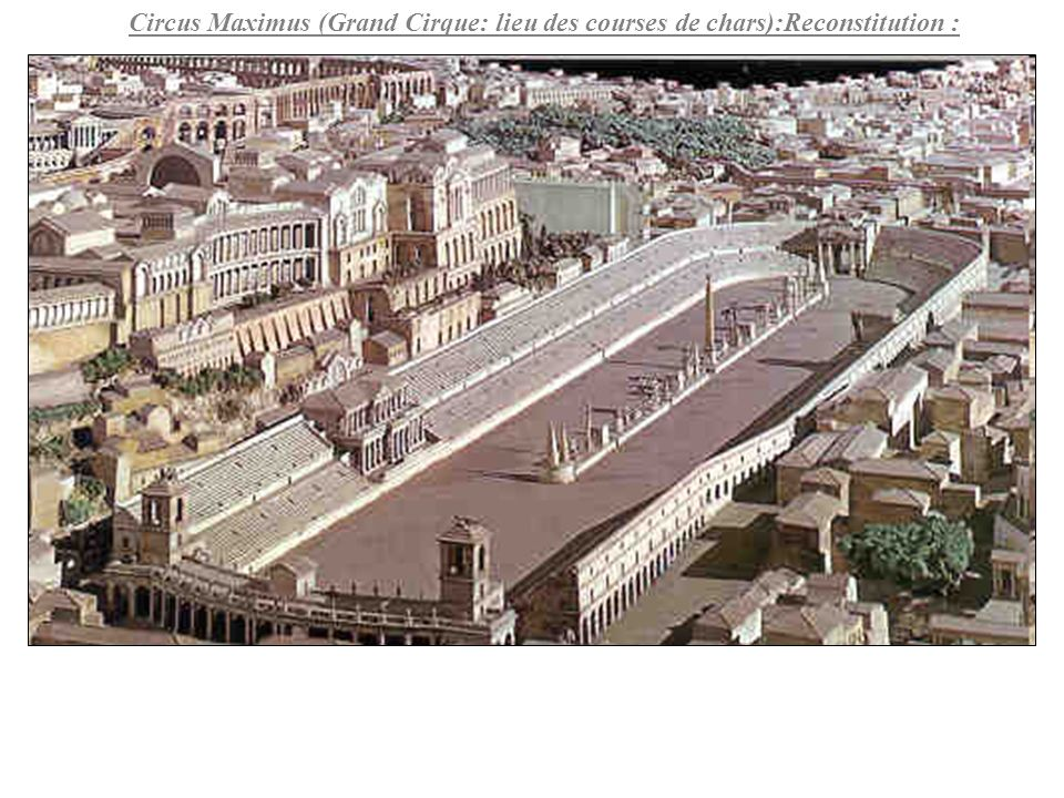 Circus Maximus (Grand Cirque: lieu des courses de chars):Reconstitution :