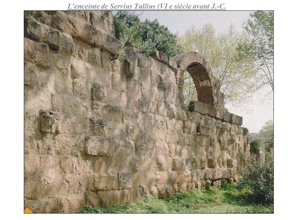 L'enceinte de Servius Tullius (VI e siècle avant J.-C.