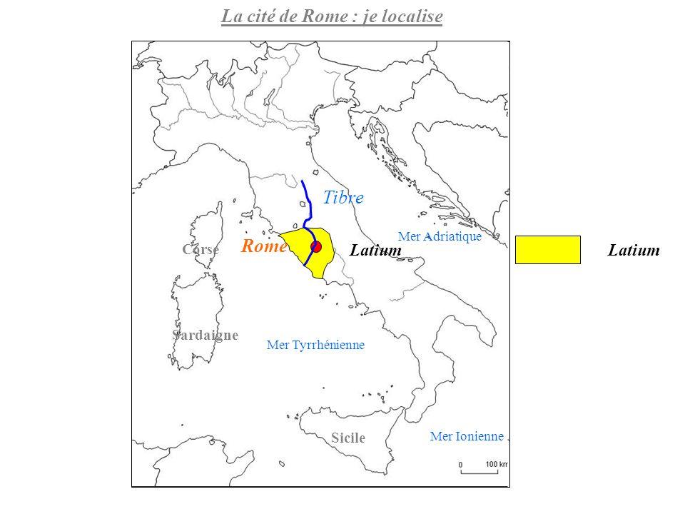 La cité de Rome : je localise