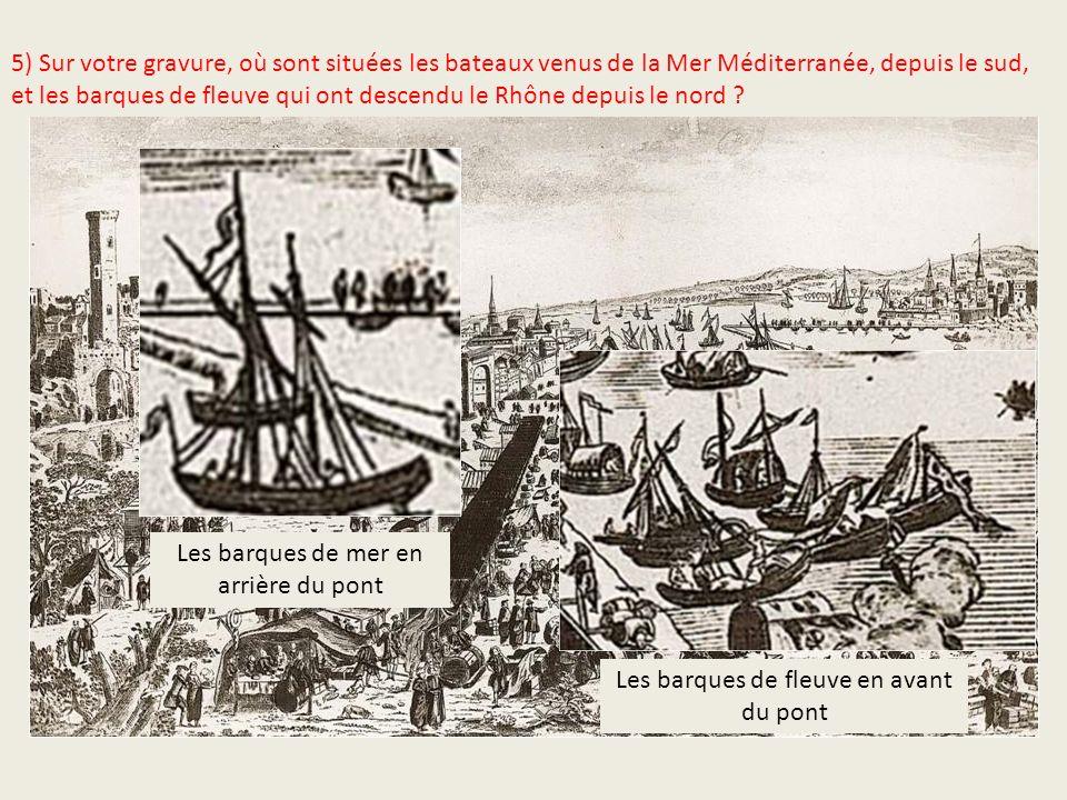 Les barques de mer en arrière du pont
