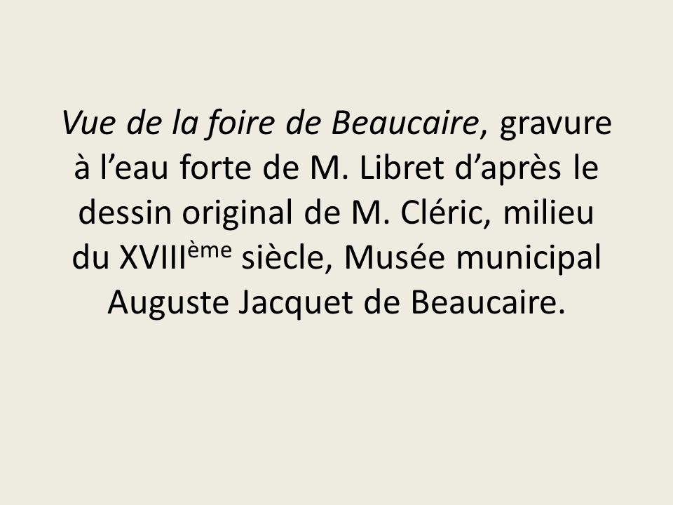Vue de la foire de Beaucaire, gravure à l'eau forte de M