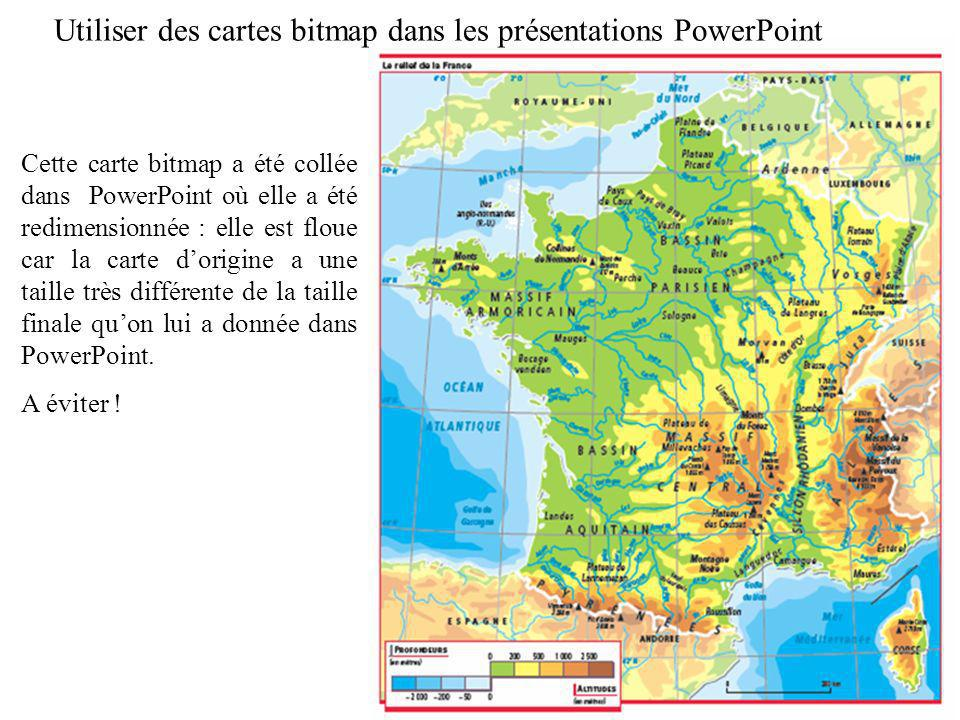 Utiliser des cartes bitmap dans les présentations PowerPoint
