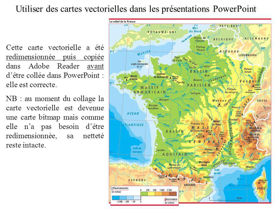 Utiliser des cartes vectorielles dans les présentations PowerPoint