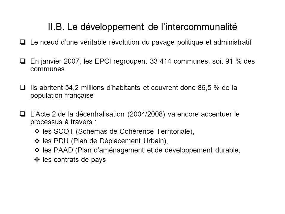 II.B. Le développement de l'intercommunalité