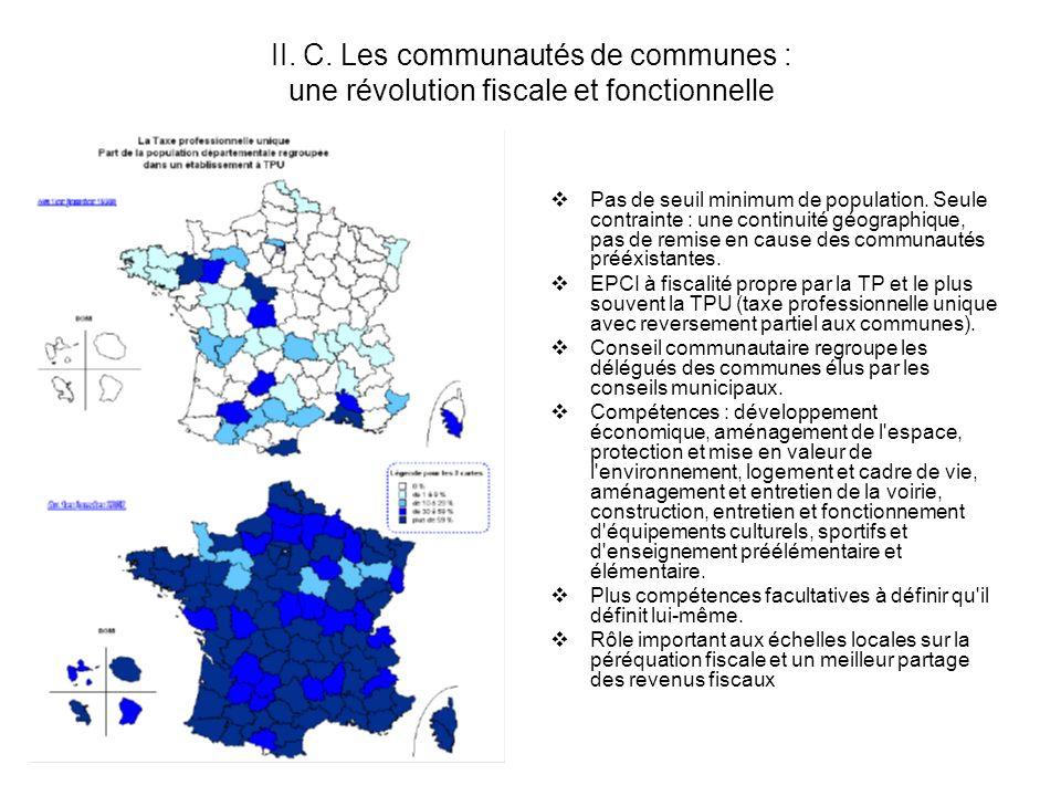 II. C. Les communautés de communes : une révolution fiscale et fonctionnelle