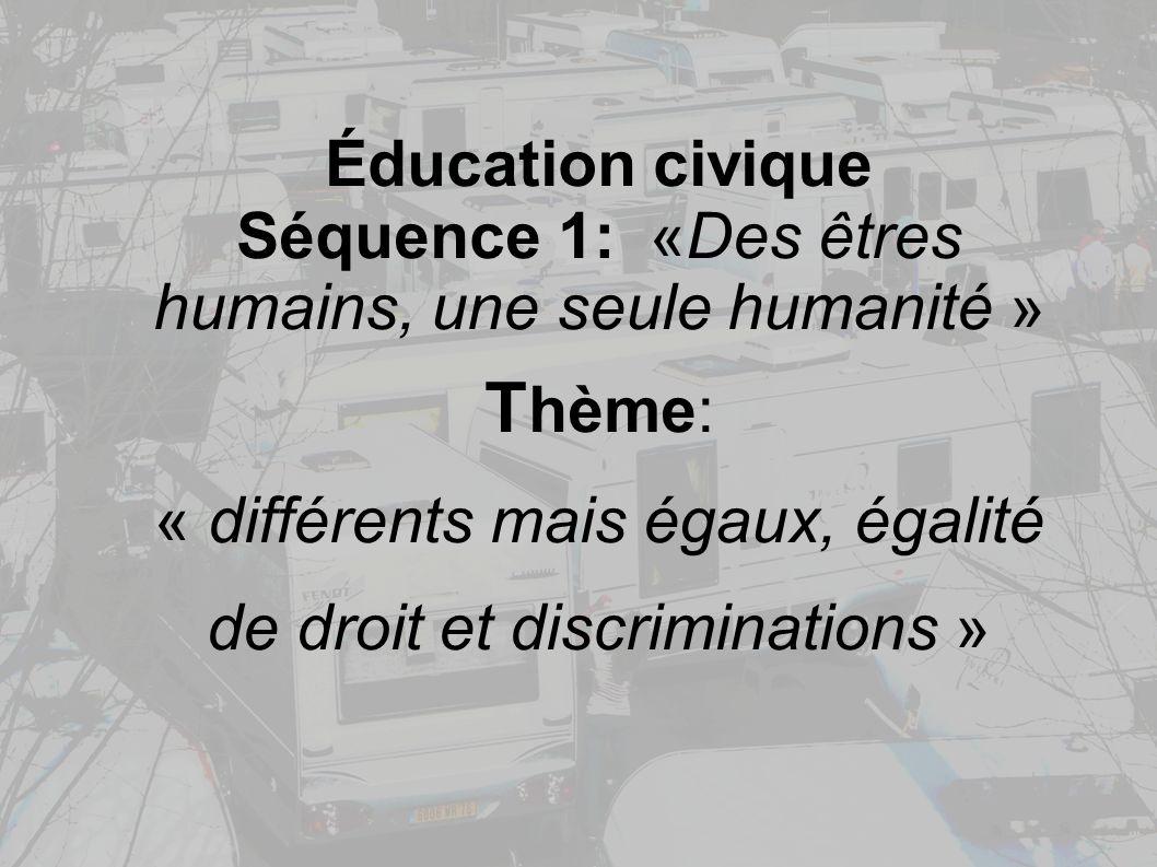 Thème: Éducation civique
