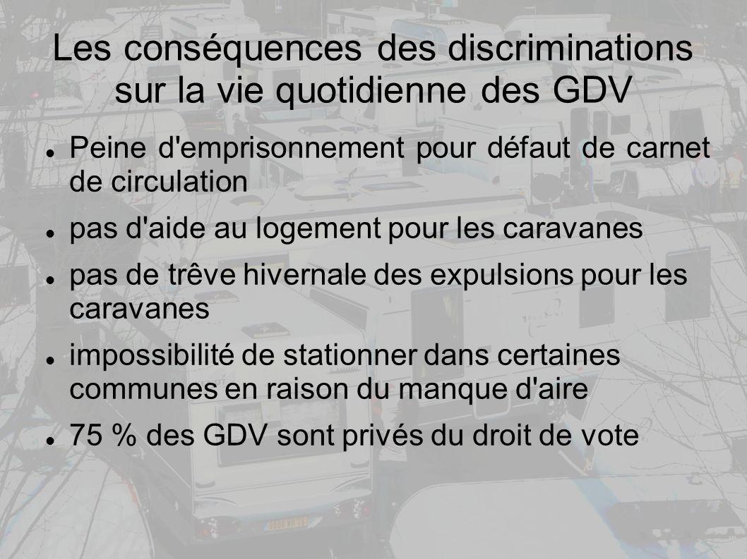 Les conséquences des discriminations sur la vie quotidienne des GDV