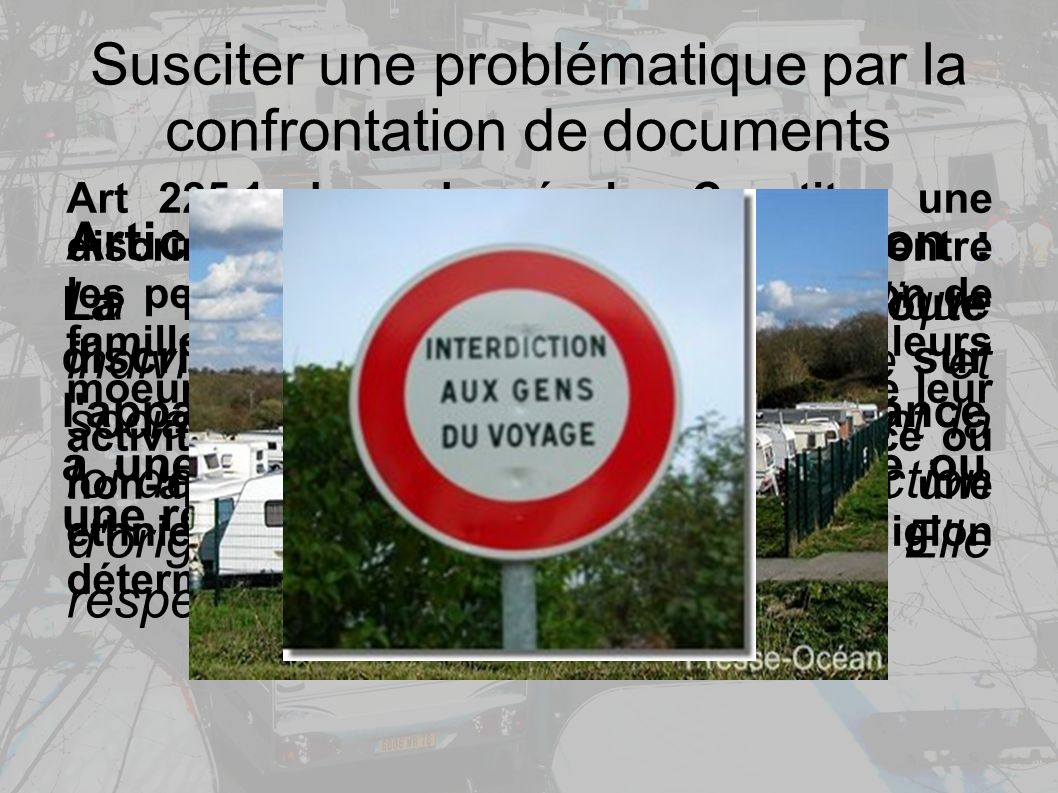 Susciter une problématique par la confrontation de documents
