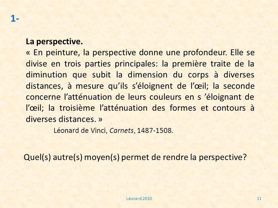 1- La perspective.