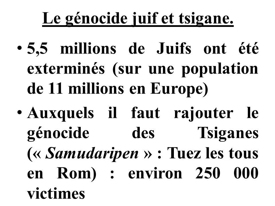 Le génocide juif et tsigane.