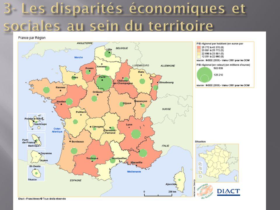 3- Les disparités économiques et sociales au sein du territoire