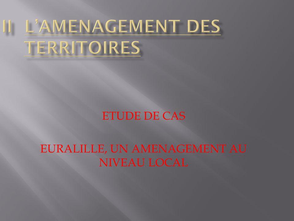 II L'AMENAGEMENT DES TERRITOIRES