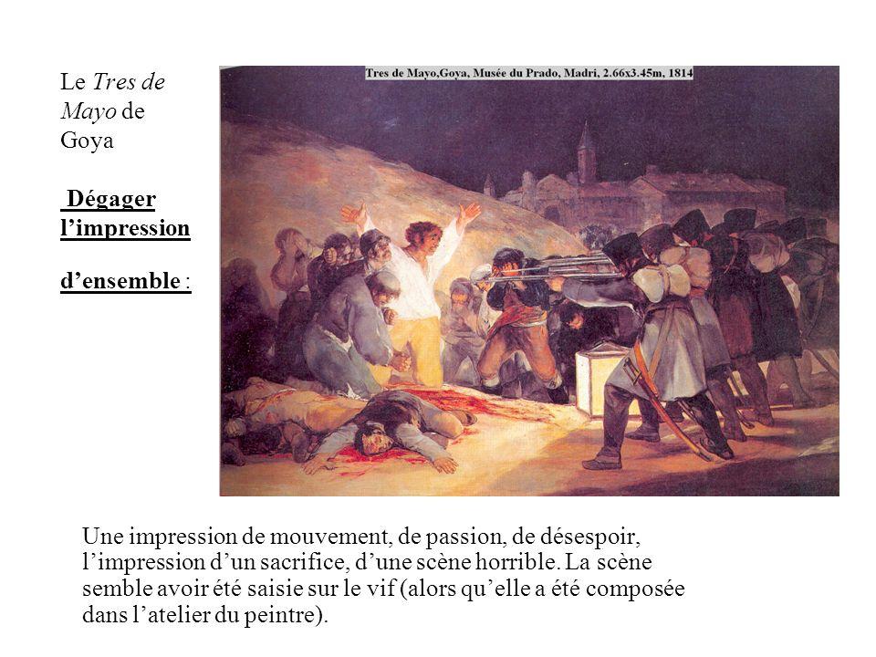 Le Tres de Mayo de Goya Dégager l'impression d'ensemble :