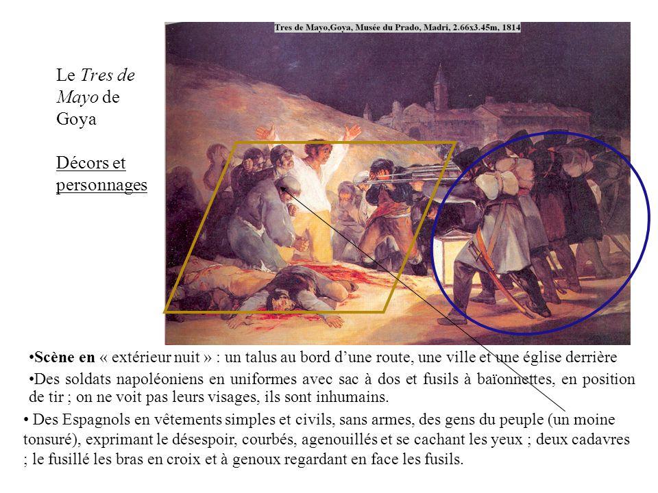Le Tres de Mayo de Goya Décors et personnages