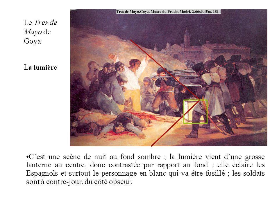 Le Tres de Mayo de Goya La lumière