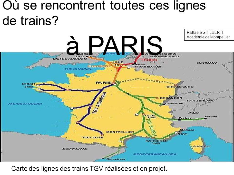 Où se rencontrent toutes ces lignes de trains