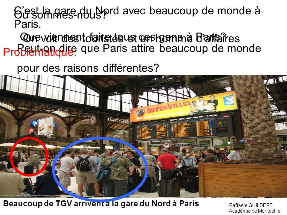 C'est la gare du Nord avec beaucoup de monde à Paris.