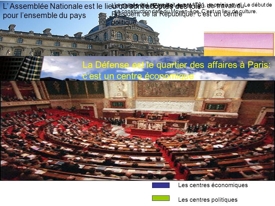L' Assemblée Nationale est le lieu où sont adoptés des lois pour l'ensemble du pays