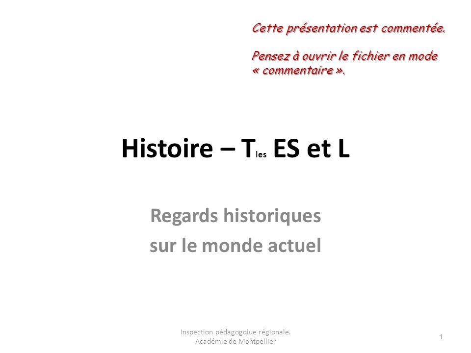 Regards historiques sur le monde actuel