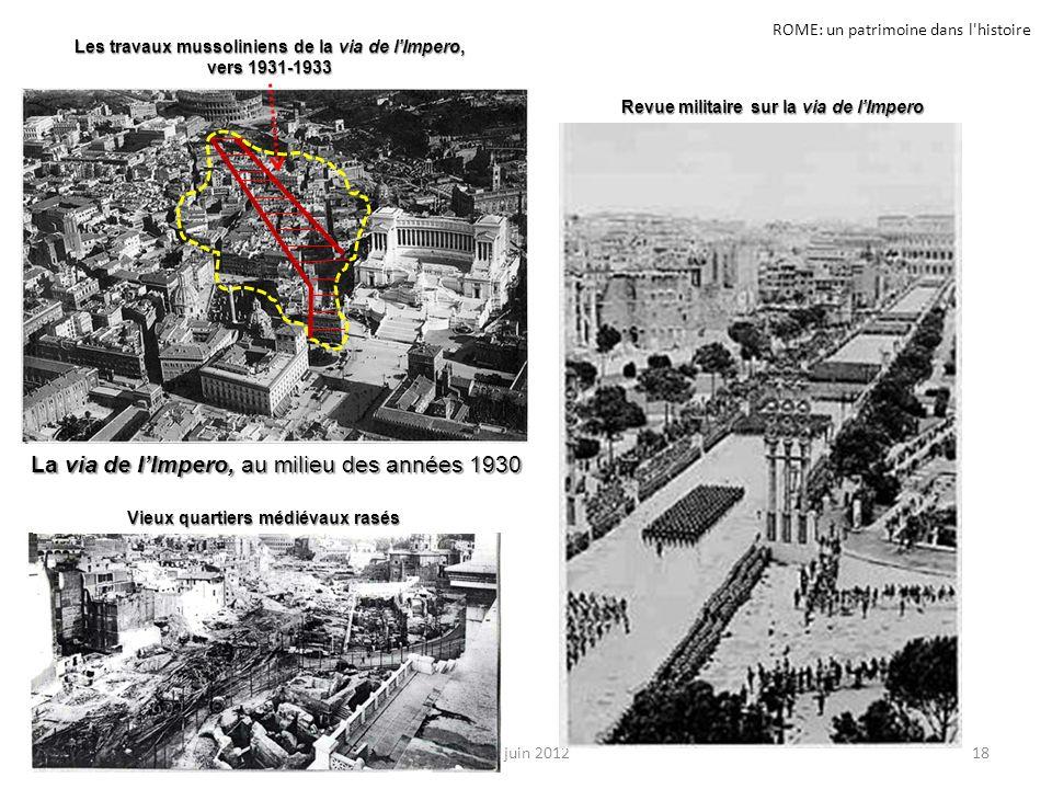 ROME: un patrimoine dans l histoire