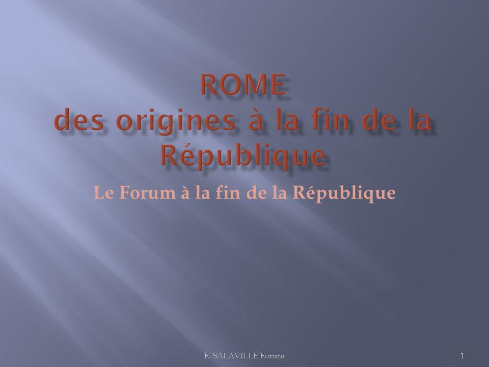 ROME des origines à la fin de la République