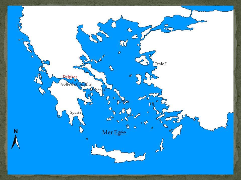 Mer Egée Troie Delphes Golfe de Corinthe Athènes Délos
