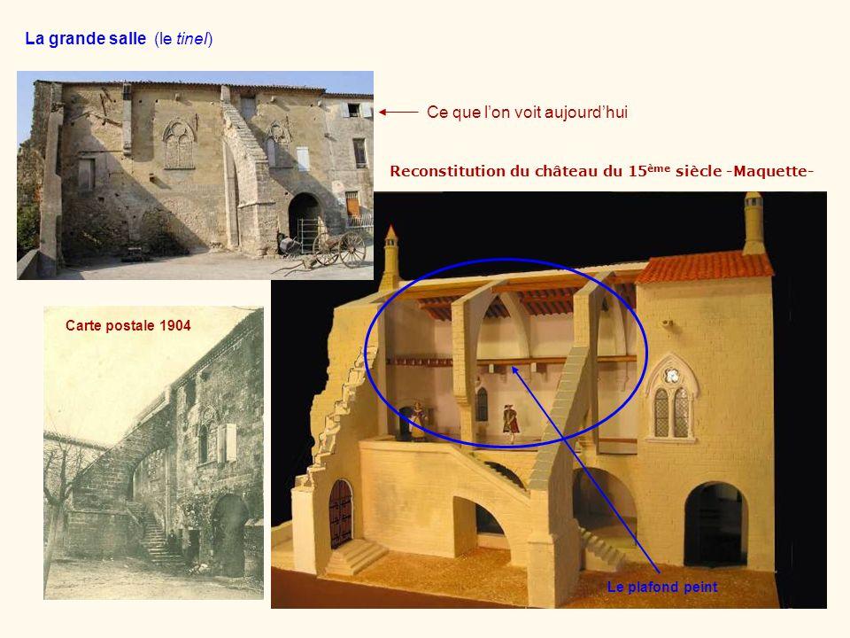 Reconstitution du château du 15ème siècle -Maquette-
