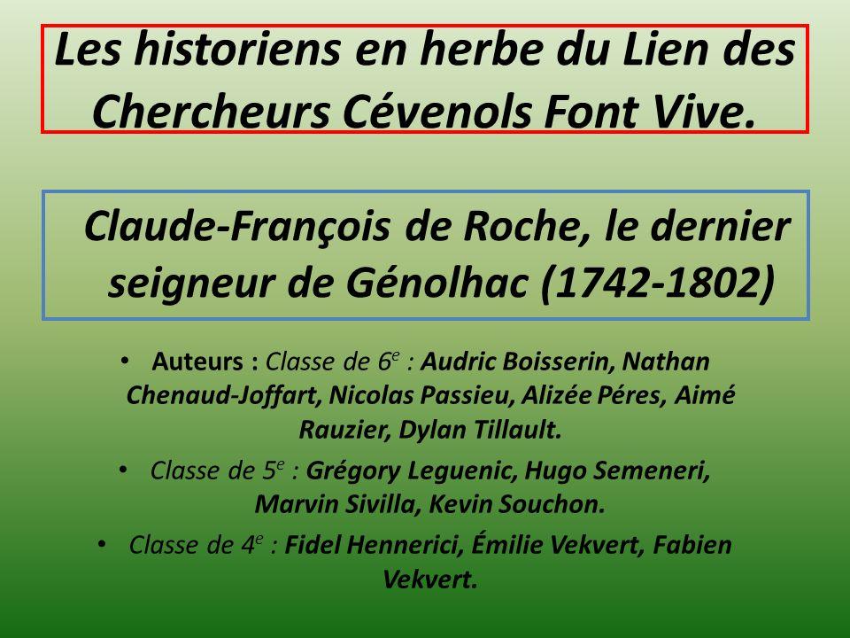 Les historiens en herbe du Lien des Chercheurs Cévenols Font Vive.