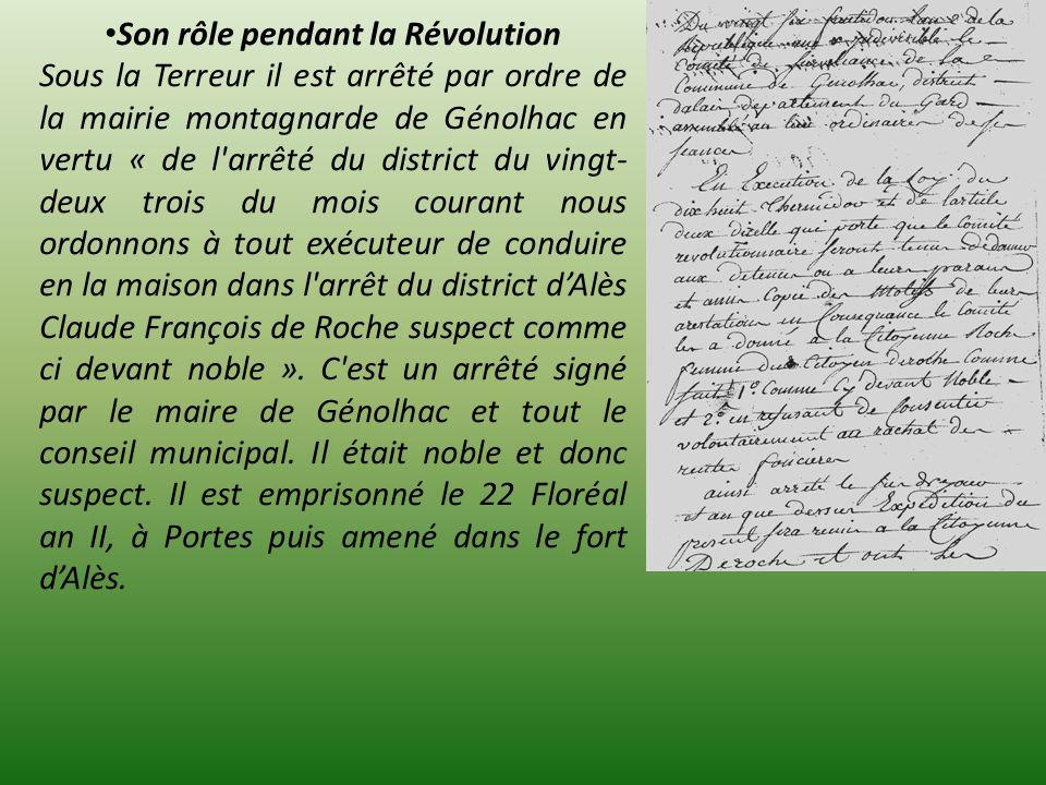 Son rôle pendant la Révolution