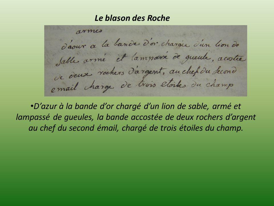 Le blason des Roche.