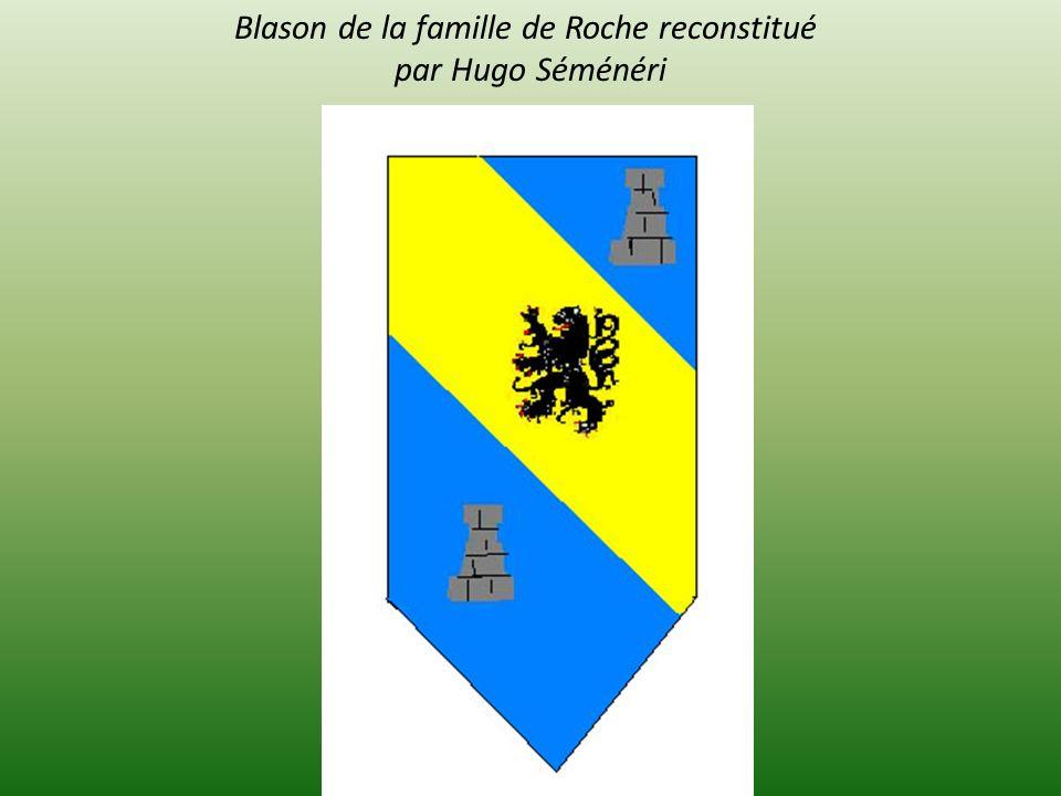 Blason de la famille de Roche reconstitué