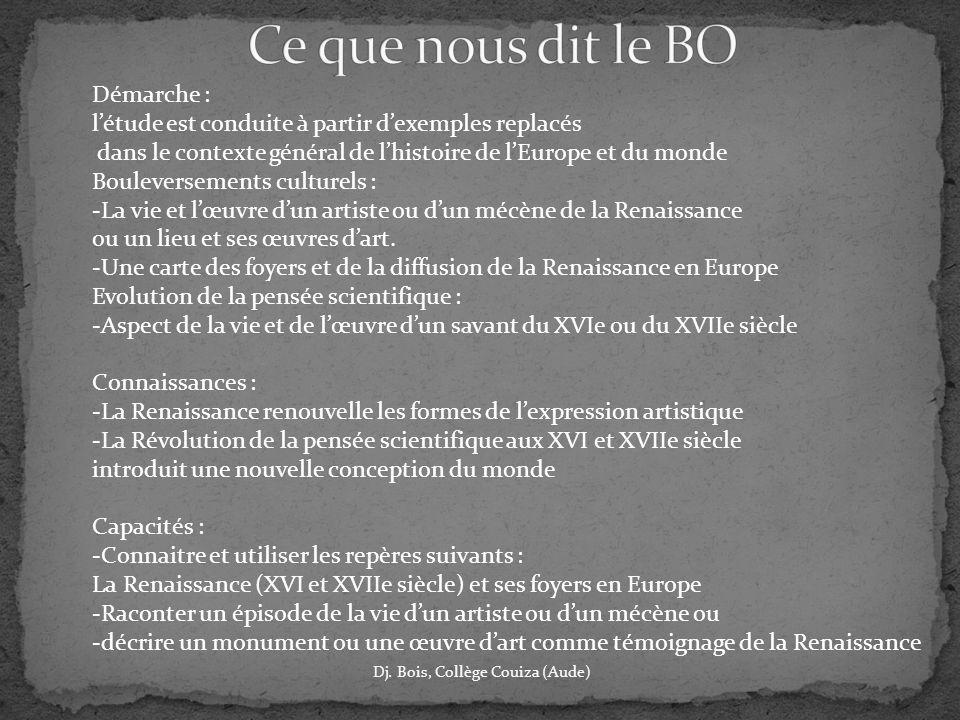 Ce que nous dit le BO Démarche :