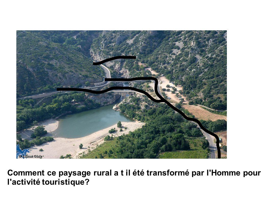Comment ce paysage rural a t il été transformé par l Homme pour l activité touristique