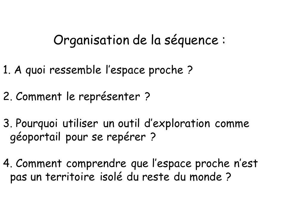 Organisation de la séquence :