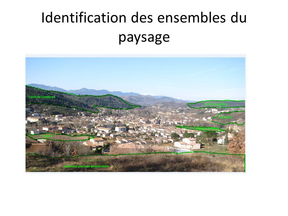 Identification des ensembles du paysage