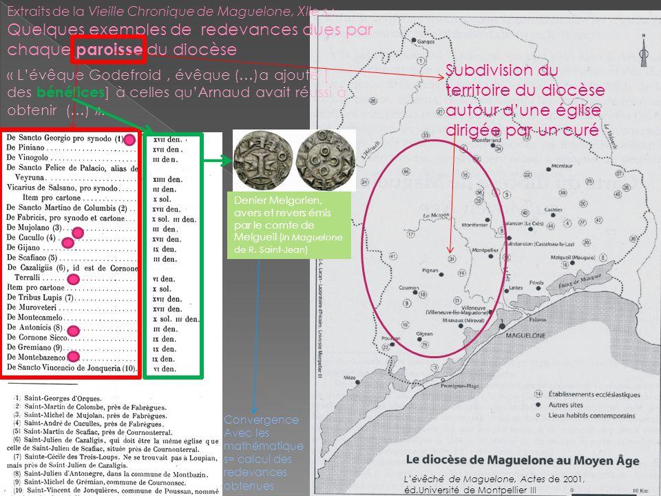 Extraits de la Vieille Chronique de Maguelone, XIIe s