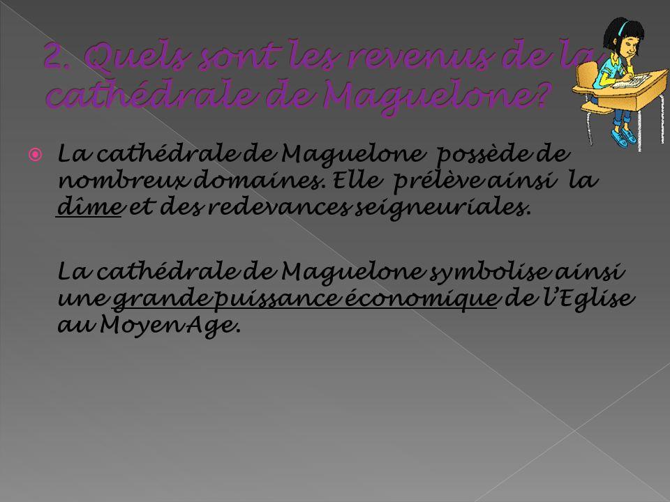2. Quels sont les revenus de la cathédrale de Maguelone