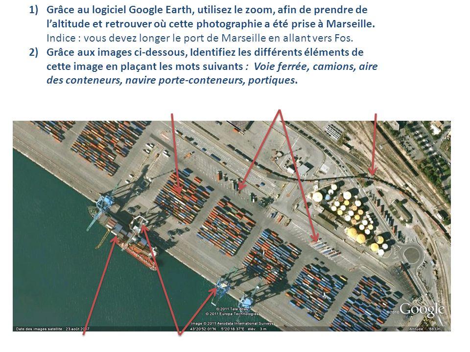 Grâce au logiciel Google Earth, utilisez le zoom, afin de prendre de l'altitude et retrouver où cette photographie a été prise à Marseille. Indice : vous devez longer le port de Marseille en allant vers Fos.