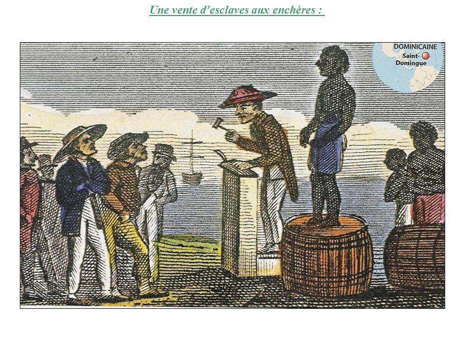 Une vente d'esclaves aux enchères :